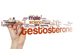 Testosterone word cloud Stock Photos