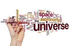 Universe word cloud Stock Photos