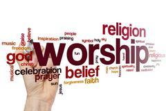 Worship word cloud Stock Photos