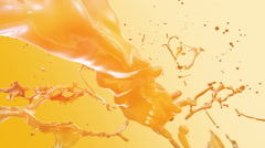 Colored Splashes, yellow Stock Footage