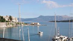 Kerkyra old town Corfu island Greece Stock Footage