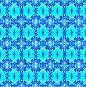 Seamless pattern turquoise blue - stock illustration