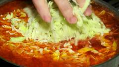 Ukrainian borsch cooking Stock Footage