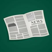 cartoon daily or weekly printed newspaper - stock illustration