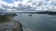 Vancouver Cityscape from Lions Gate Bridge - 02 - stock footage