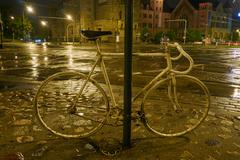 Spirit of the cyclist at night - stock photo