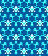 Blue cyan white color abstract geometric seamless pattern. Stock Illustration