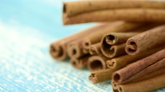 Rotating cinnamon sticks Stock Footage