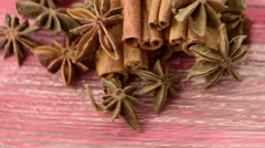 Anise and cinnamon Stock Footage