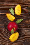 Nectarine background. - stock photo