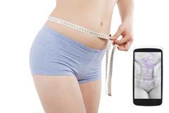 Weight loss app. - stock photo
