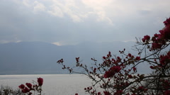 The landscape of Erhai lake in Dali, China Stock Footage