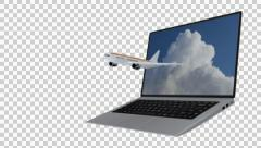 Internet flying concept Stock Footage