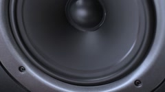 Vibrating speaker from loud music. Stock Footage