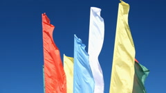The flags waved in the wind Stock Footage