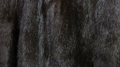 Close up of a natural brown mink coat. Stock Footage
