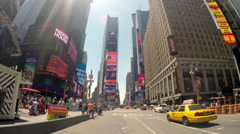 Driving trough Times Square New York City at Noon 4k Stock Footage