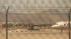 Lot of air-traffic on Las Vegas airport Stock Footage