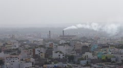 Factory smoke in city Stock Footage
