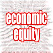 Economic equity - stock illustration