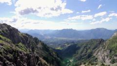 Mountain panorama Stock Footage