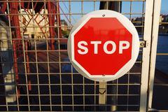 Stop signal Stock Photos