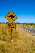 Kangaroo Sign - stock photo