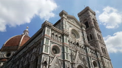 Giotto's Campanile, Florence Cathedral Stock Footage