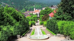 """Cascade Fountain """"Water Paradise"""" in Baden-Baden. Europe. Germany - stock footage"""