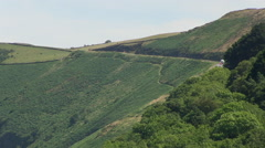 Countisbury Hill Descent into Lynmouth Stock Footage