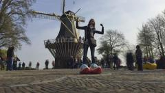 Park of flowers in Holland. Keukenhof with TimeLapse Stock Footage