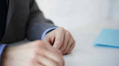 Close up of businessman taking money bribe Stock Footage