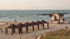 Beach in Israel - stock footage
