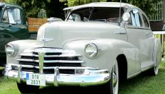 Stock Video Footage of old vintage American car Chevrolet - front side