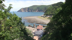 Lynmouth Coastal Village in North Devon Stock Footage