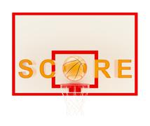Word Score basketball composition Stock Illustration
