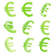 Euro currency sign render Stock Illustration
