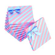 Twisted pile of gift boxes isolated - stock illustration