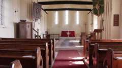 Empty Church Stock Footage