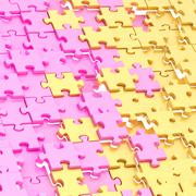 Abstract puzzle background composition Stock Illustration