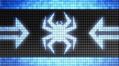 Virus icon on the screen. Looping. Stock Footage