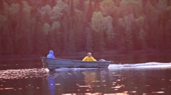 Fishing boat slowly passes Stock Footage