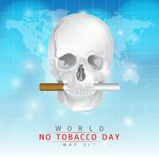 May 31st World no tobacco day - stock illustration