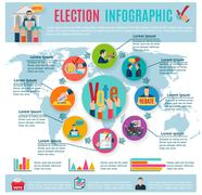 Election Infographics Set Stock Illustration
