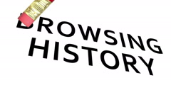 Erase Browsing History Stock Footage