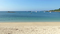 St. Mary's Porthcressa Beach, Isles of Scilly Stock Footage