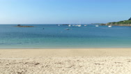 Stock Video Footage of St. Mary's Porthcressa Beach, Isles of Scilly