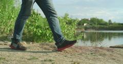 Waterside Walk - stock footage