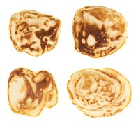 Small pancakes isolated - stock photo