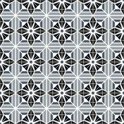 monotone color patterns flowers and abstract decorative elements design - stock illustration